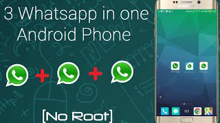 hindi how to install 3 whatsapp on 1 android device 2016