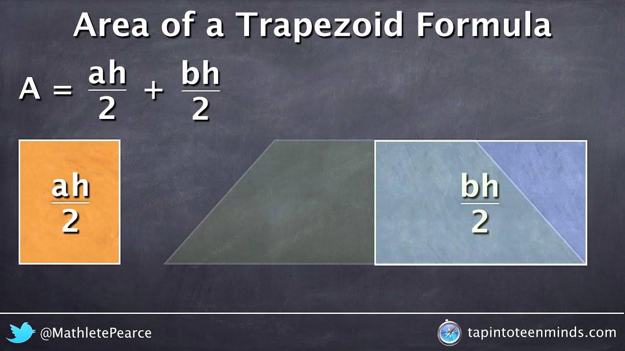 Visualizing Area Of A Trapezoid Formula  Deriving The Formula