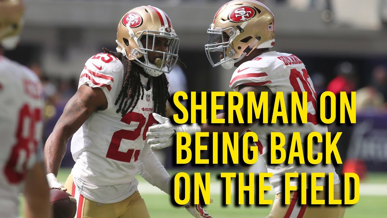 98634388340 49ers  Richard Sherman goes over his first official game since injury