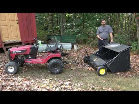 Brinly Lawn Sweeper Review. Part 2: Lets See It Work!