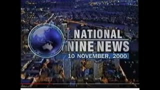 QTQ National Nine News 10/11/00