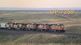 UP 7250 West, West of Cheyenne, Wyoming on 9-7-2013