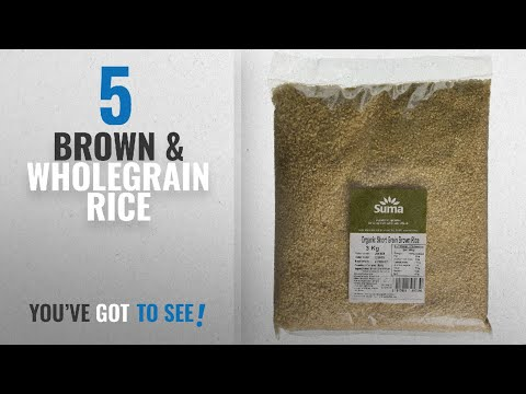 Top 10 Brown & Wholegrain Rice [2018]: Suma Organic Short Grain Brown Rice 3 kg