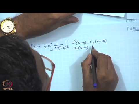 Mod-01 Lec-10 Multivariate normal distribution