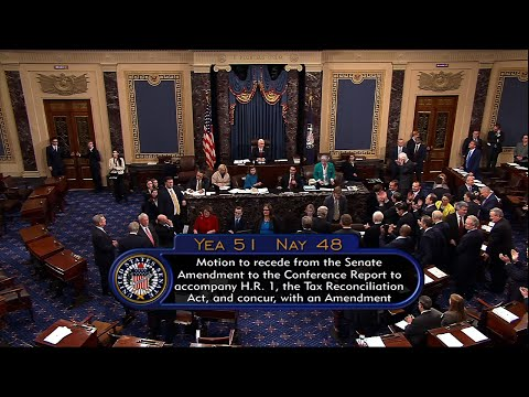 Senate Passes Major Tax Bill, 51-48