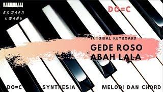 Tutorial Keyboard GEDE ROSO_ABAH LALA (Melodi dan Akor Do=C)