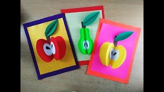 Fruits activity for kids | Paper Craft l FRUITS recognition l 3D fruits l Motor Skills