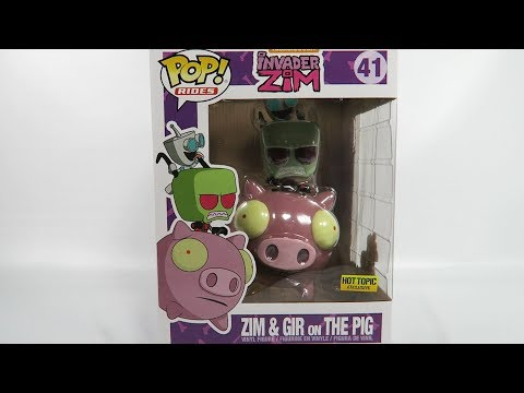 Hot Topic Exclusive Invader Zim Zim and Gir on The Pig Unboxing