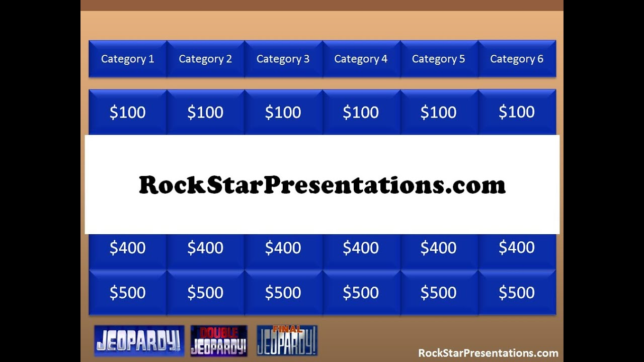 jeopardy powerpoint template - free download - youtube, Powerpoint templates