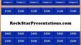 Jeopardy PowerPoint Template - Free Download