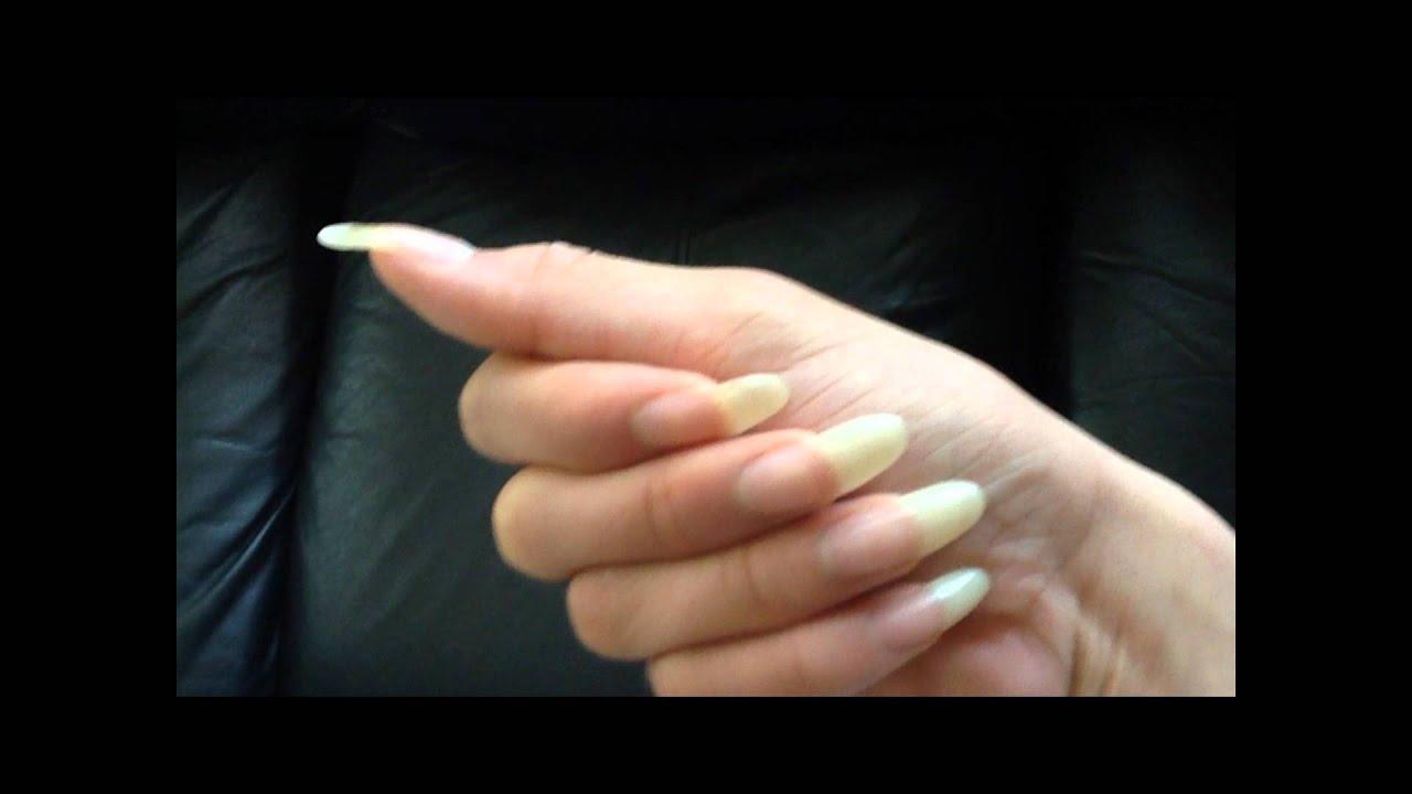 natural long nails and nails design 2012 by [ TINA ] - YouTube