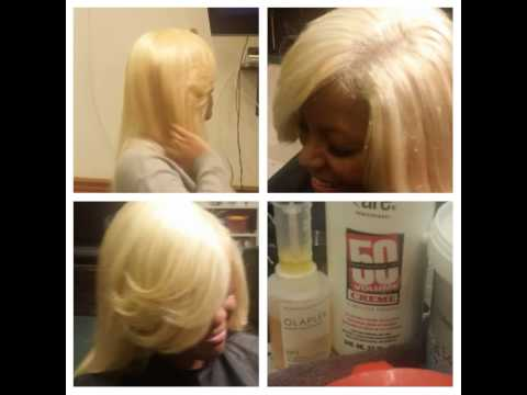 Blonde Quick Weave With Illusion Part Youtube