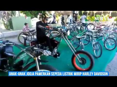 Anak Jogja Pamerkan Sepeda Listrik Harley Davidson - YouTube