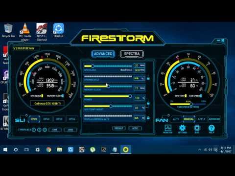 overclocking  any non oc gpu with zotac firestorm 2017