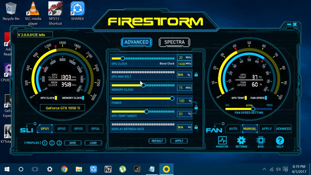 overclocking any non oc gpu with zotac firestorm 2017