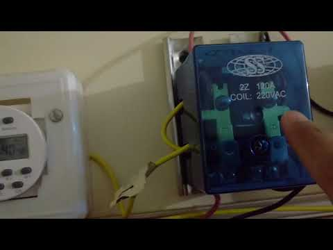 Solar power and Utility power programmable timer change over switch