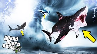 SHARKNADO MOD IN GTA 5! - GTA 5 Mods Gameplay