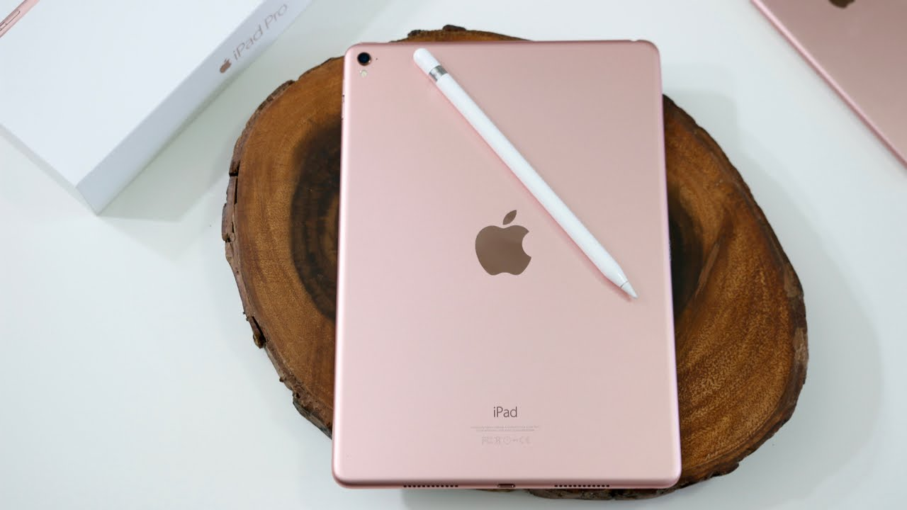rose gold ipad pro 9 7 apple pencil unboxing youtube. Black Bedroom Furniture Sets. Home Design Ideas
