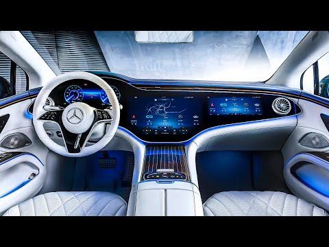 Mercedes-Benz EQS (2022) Futuristic Hi-Tech Interior | The Electric S-Class
