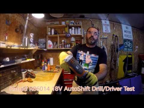 Ridgid R86014 18V AutoShift Drill/Driver Test  Vedat USTA