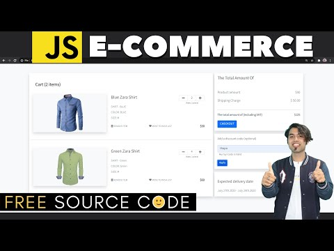 Responsive E-Commerce Shopping Cart Page in JavaScript & Bootstrap 5 in Hindi in 2020