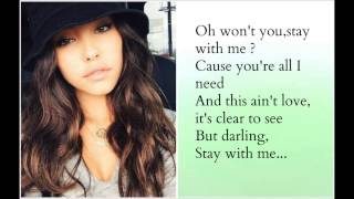 Madison Beer - Stay with me (Sam Smith cover) + Lyrics vid-