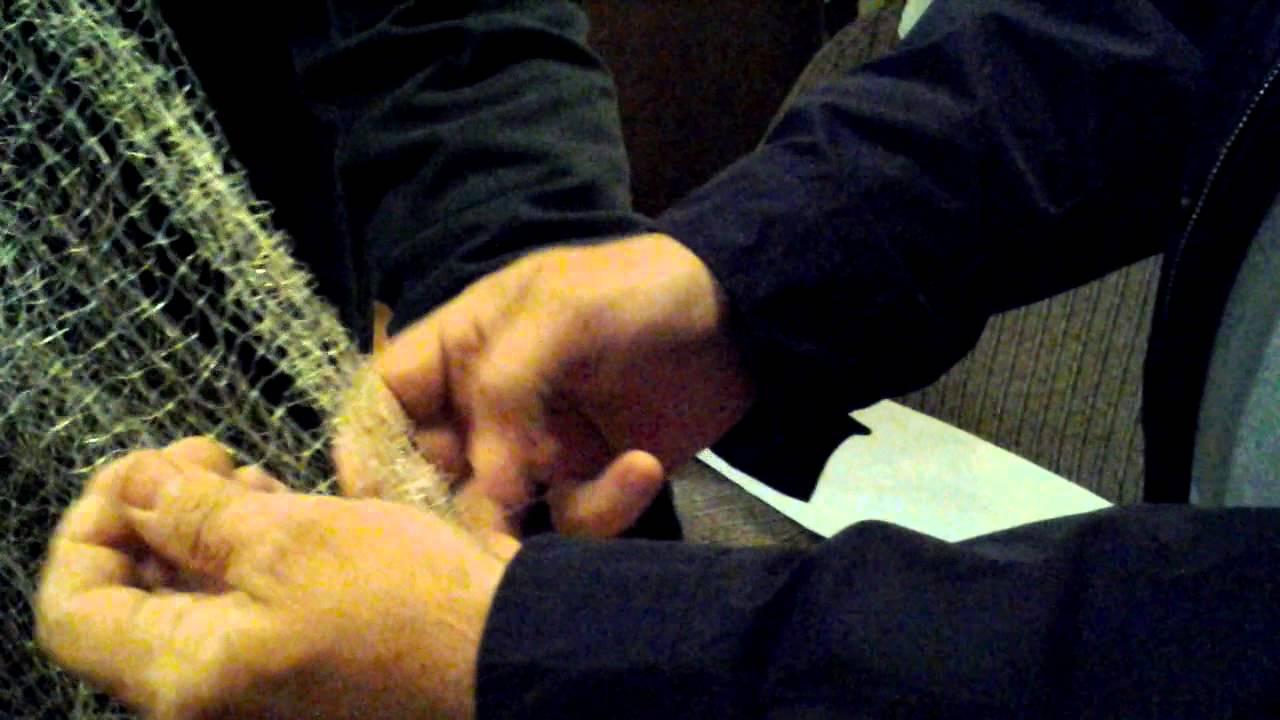 Как правильно зашить сетку для сброса шаров