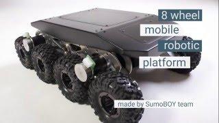 8 wheel robotic platform