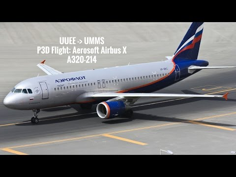 P3D: UUEE to UMMS (Moscow, Russia to Minsk, Belarus)