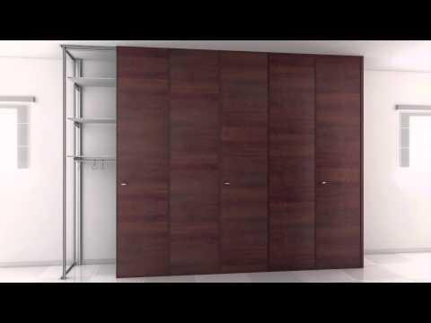Pannelli sottoscale sottotetti cabine armadio youtube - Pannelli scorrevoli per cabine armadio ...