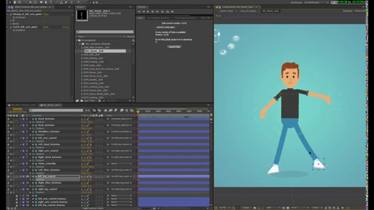Rigged Characters For After Effects