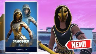NEW SANDSTORM Skin Gameplay in Fortnite!
