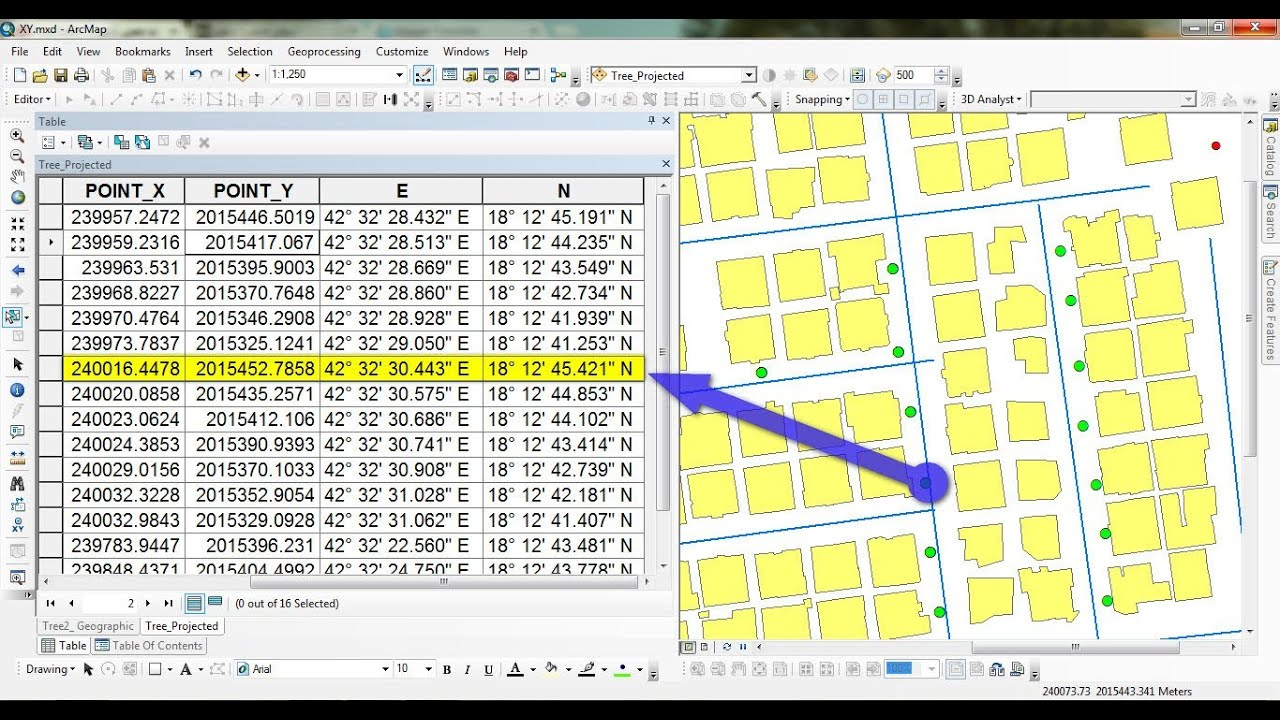 add xy coordinates in arcgis