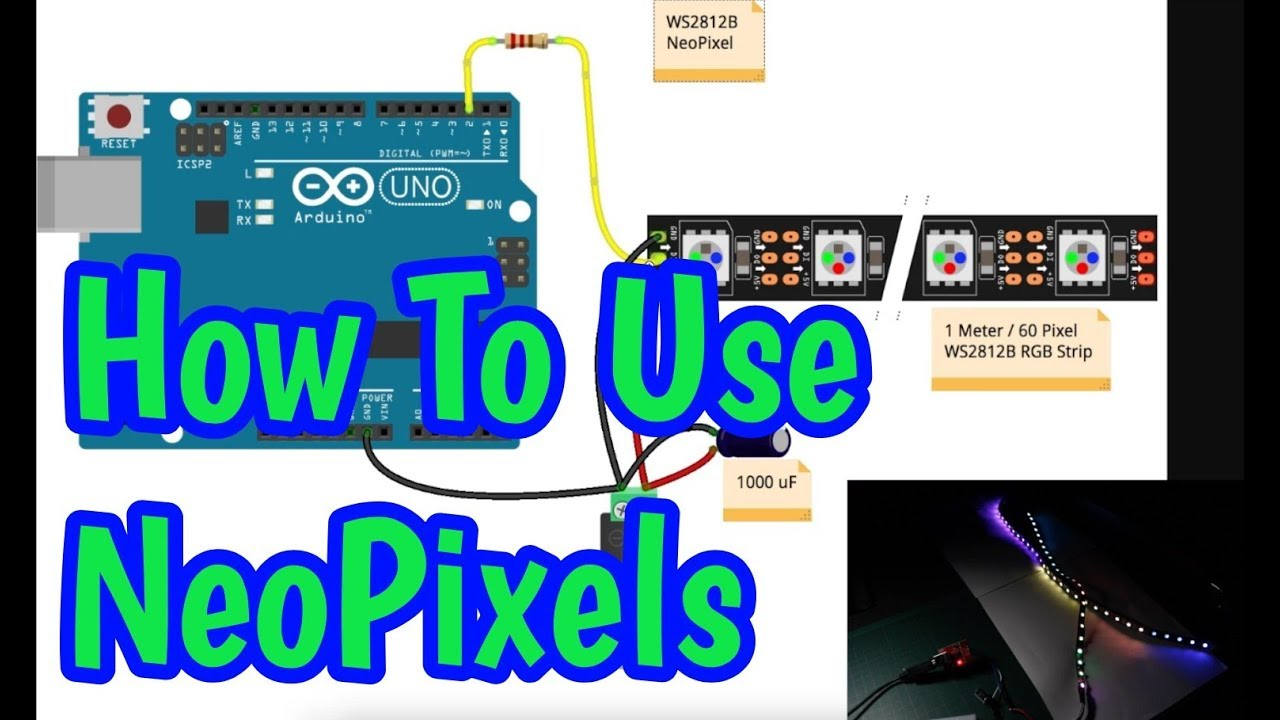 How to Use WS2812B Neopixels with FastLED on Arduino
