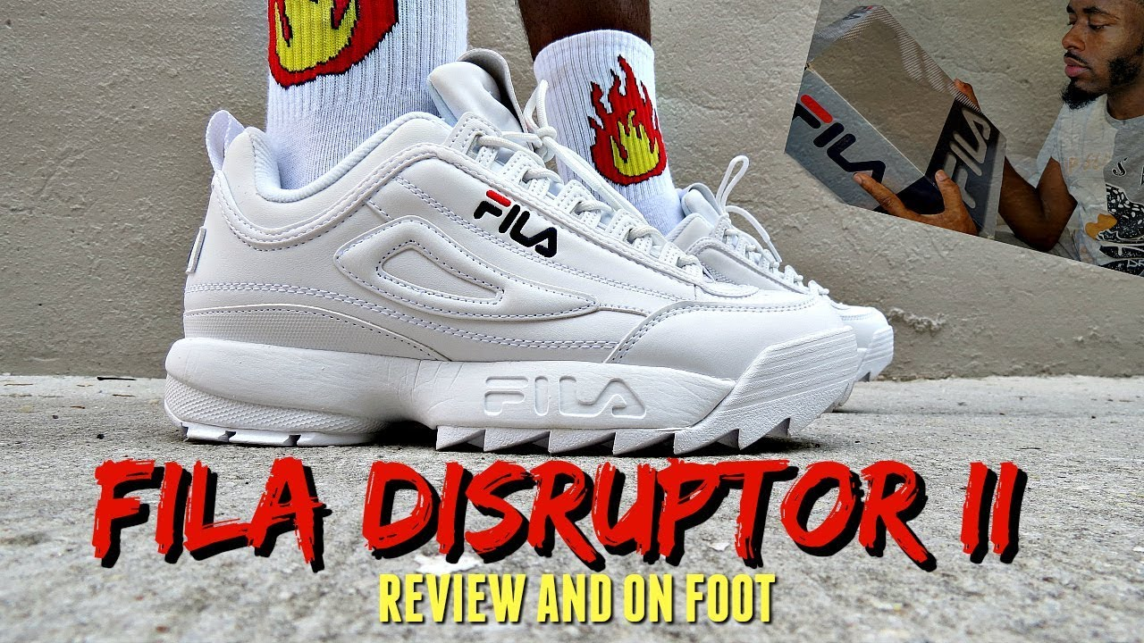 Fila Disruptors II Unboxing Review   On Feet - YouTube c215ed82b9194