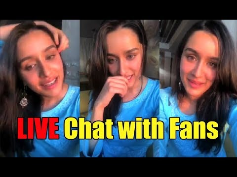CUTE Shraddha Kapoor Live Chat With Fans