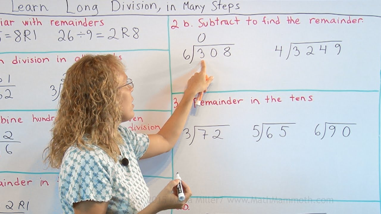 hight resolution of How to teach long division step-by-step - YouTube