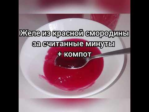 ЖЕЛЕ ИЗ КРАСНОЙ СМОРОДИНЫ + КОМПОТ