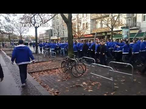 Berliner Derby: Fanmarsch Der Hertha-Fans