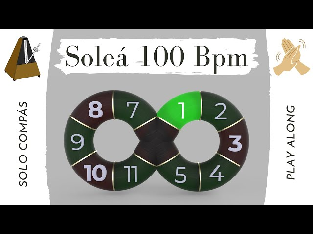 Solo compás (flamenco metronome) Soleá 100 Bpm