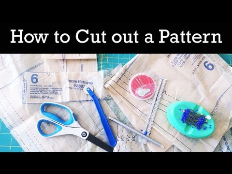 How To Cut Out A Sewing Pattern Youtube
