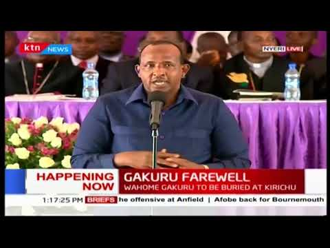 House speaker Aden Duale challenges Nyeri politicians to help the late Wahome's family