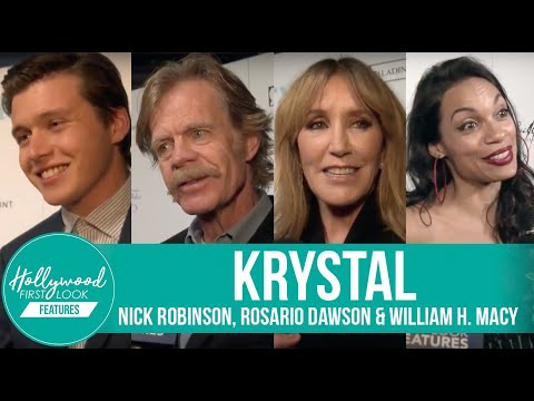 Nick Robinson on his new movie KRYSTAL with Rosario Dawson & directed by William H. Macy