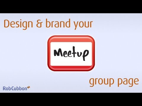 Brand and Design your MeetUp group page with logo and background image