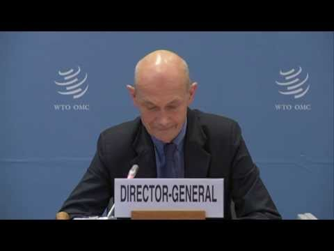 Press conference: WTO trade figures 2013