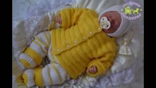 Вязанный комплект для новорожденного