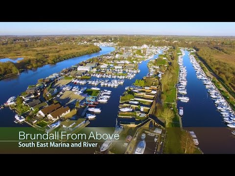 Brundall From Above - Marina And South East River - 29 November 2016