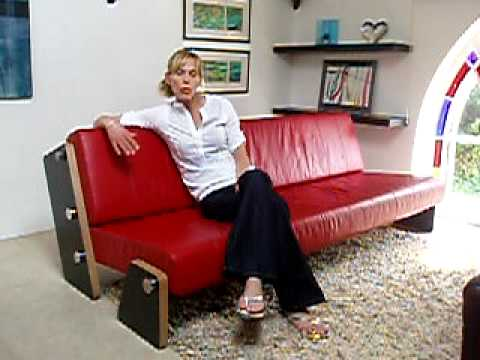 Contemporary Sofa Bed, bespoke sofa beds, red leather sofa bed