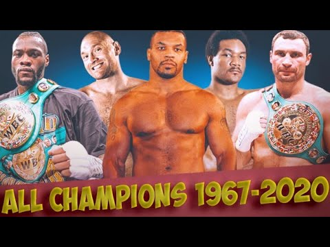 Download 1964-2021 All Heavyweight Champions! How Many Will You Name?!?!