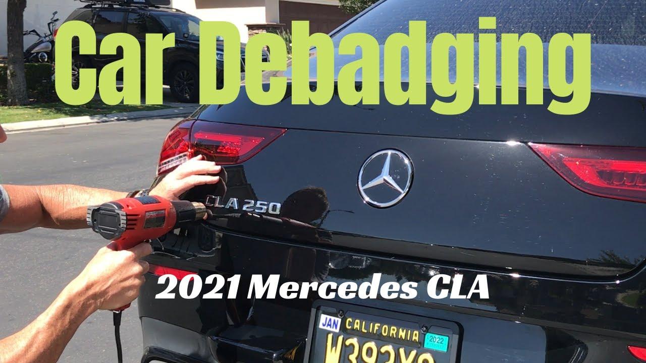 2020 Mercedes CLA debadge
